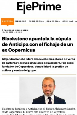 incorporación a anticipa real estate - blacstone